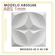 Forma De Gesso 3D em ABS - ABS0166-1MM  45x45cm