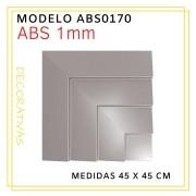 Forma De Gesso 3D em ABS - ABS0170-1MM  45x45cm