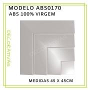 Forma De Gesso 3D em ABS - ABS0170-2MM  45x45cm