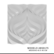 Forma De Gesso 3D em ABS - ABS0175-1MM  45x45cm