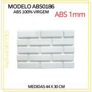 Forma De Gesso 3D em ABS - ABS0186-1MM 44x30cm