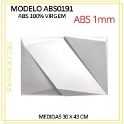 Forma De Gesso 3D em ABS - ABS0191-1MM 30x43cm