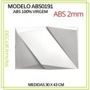 Forma De Gesso 3D em ABS - ABS0191-2MM 30x43cm