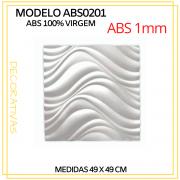 Forma De Gesso 3D em ABS - ABS0201-1MM 49x49cm