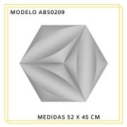 Forma De Gesso 3D em ABS - ABS0209-1MM 52x45cm