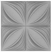 Forma De Gesso 3D em ABS - ABS0223 - 2MM 50x50cm