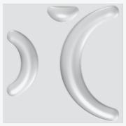 Forma De Gesso 3D em PET - PET0036-1.8MM 30x30cm