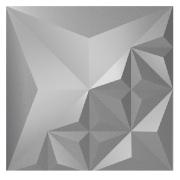 Forma De Gesso 3D em PET - PET0067-1.8MM 39x39cm