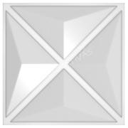 Forma De Gesso 3D em PET - PET0089-1.8MM 44x44cm