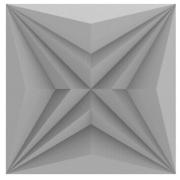 Forma De Gesso 3D em PET - PET0221 - 1.8MM 30x30cm