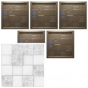 KIT 5 Formas De Gesso 3D em PET - PET0081- 1.8MM