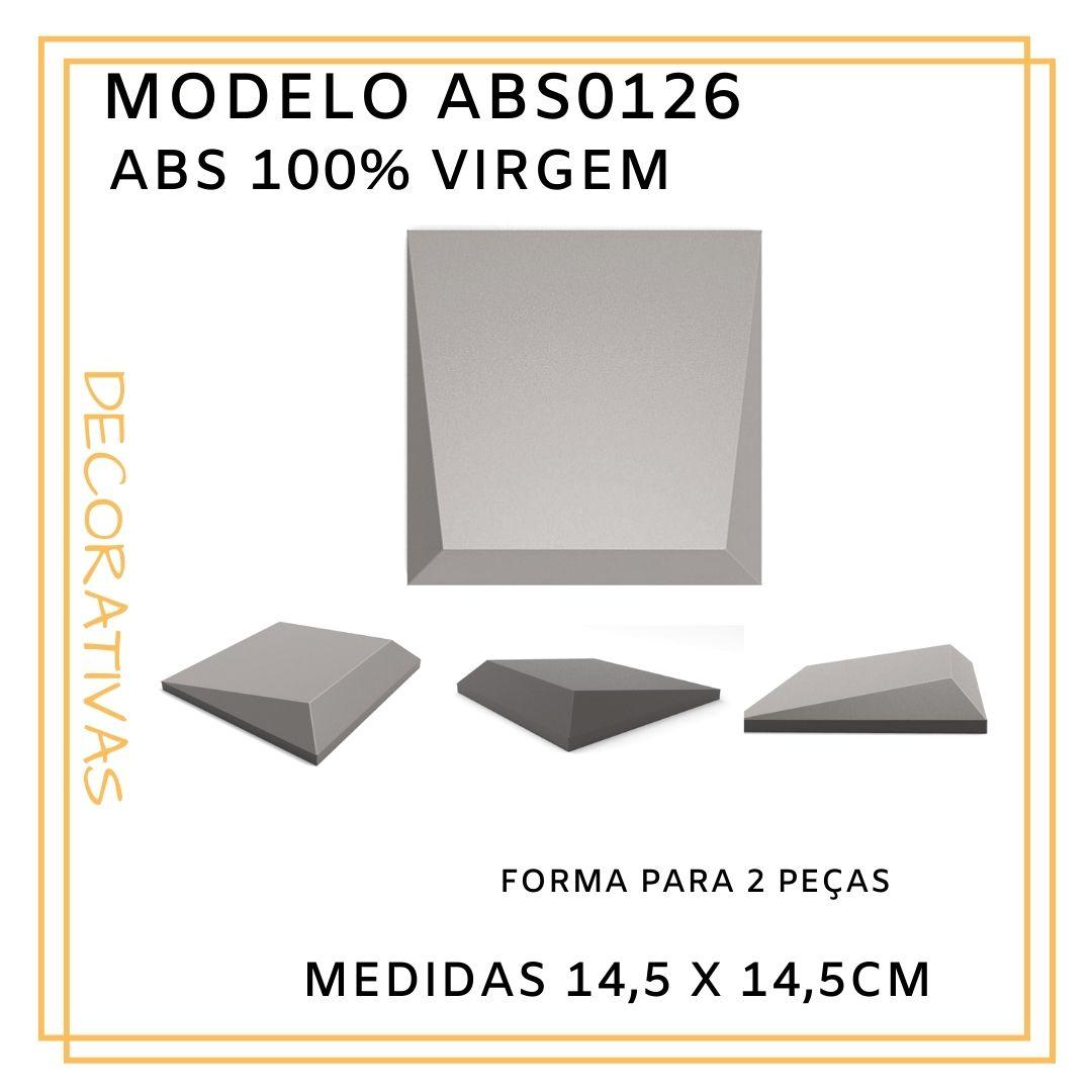 Forma De Gesso 3D em ABS - ABS0126-1MM 14,5x14,5cm