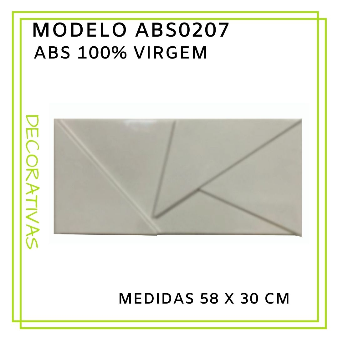 Forma De Gesso 3D em ABS - ABS0207-2MM 58x30cm