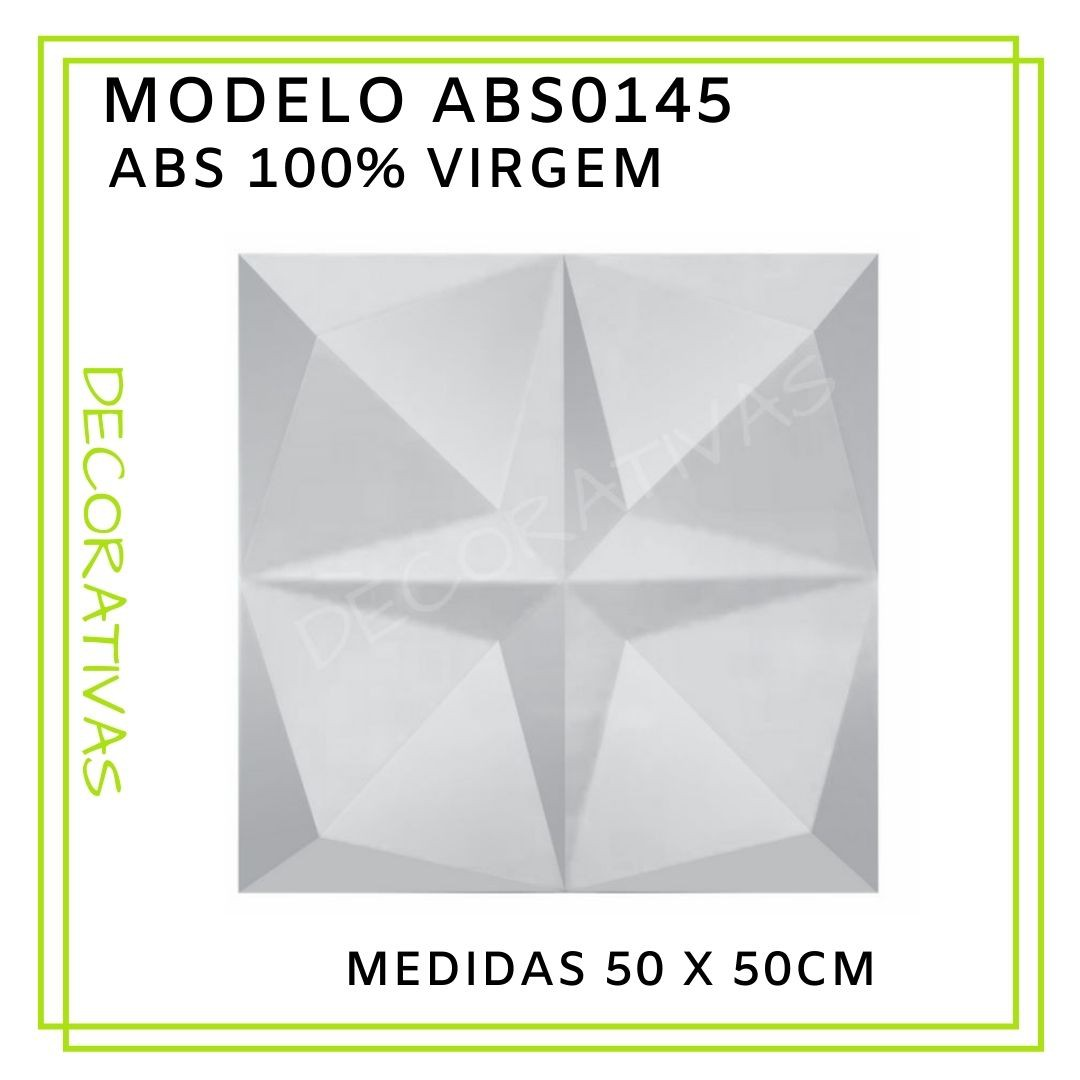Forma De Gesso 3D em ABS - ABS0145-2MM 50x50cm