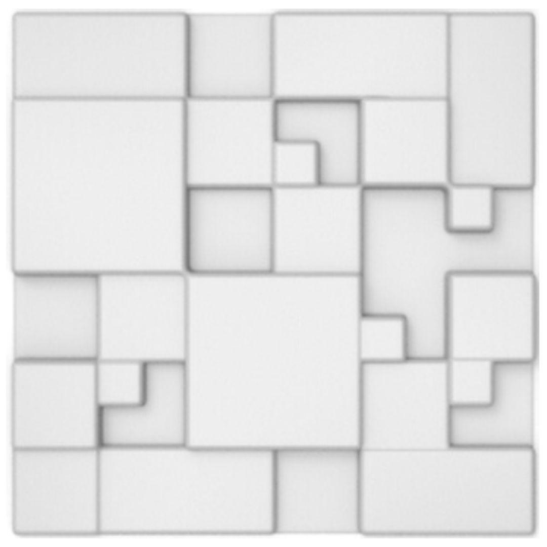 Forma De Gesso 3D em ABS - ABS0002-2MM  30x30cm