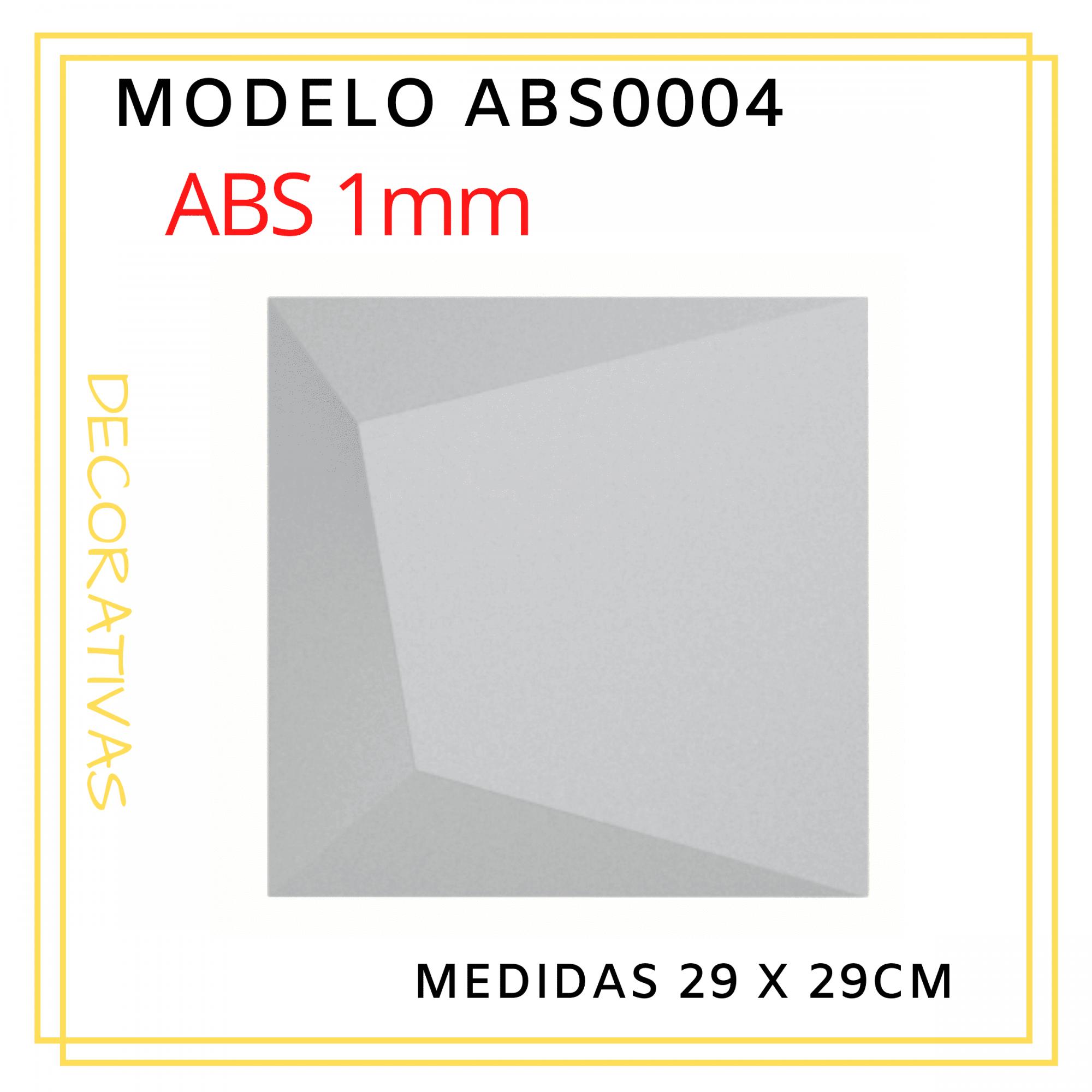 Forma De Gesso 3D em ABS - ABS0004-1MM 30x30cm