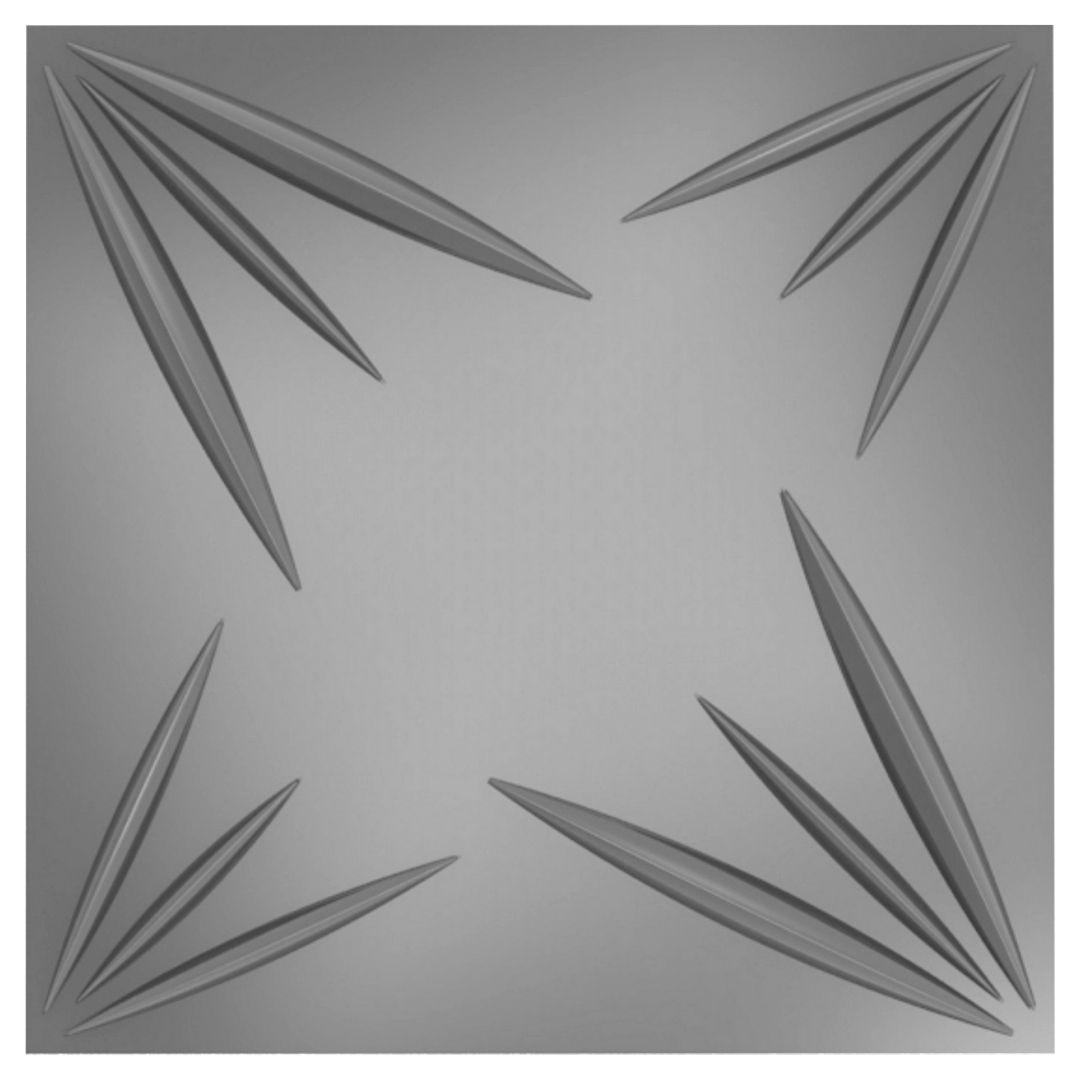 Forma De Gesso 3D em ABS - ABS0005-2MM 30x30cm