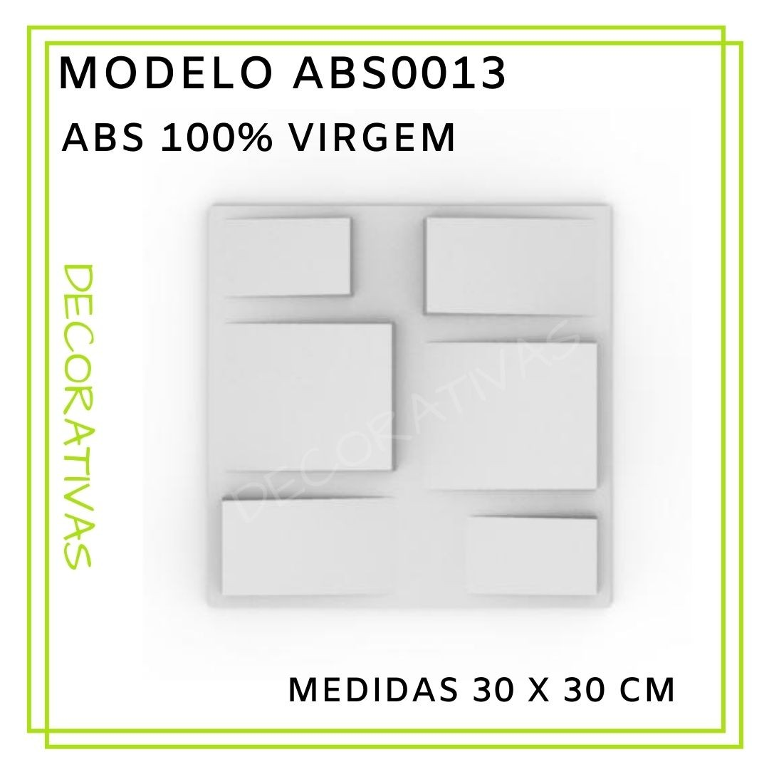 Forma De Gesso 3D em ABS - ABS0013-2MM 30x30cm