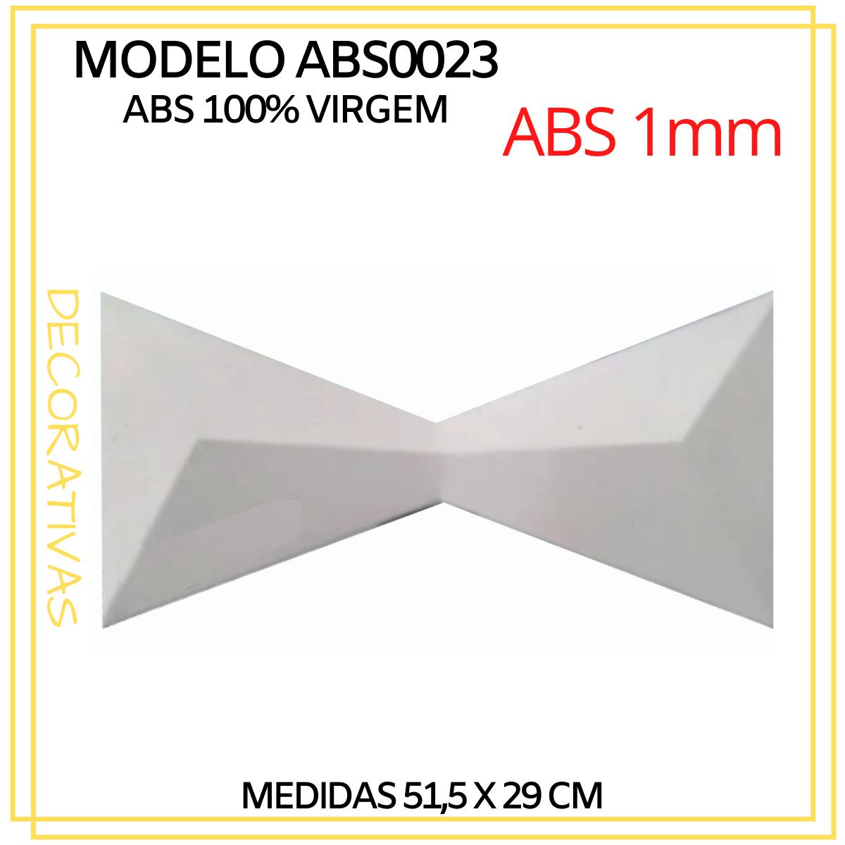 Forma De Gesso 3D em ABS - ABS0023-1MM 51,5x29cm