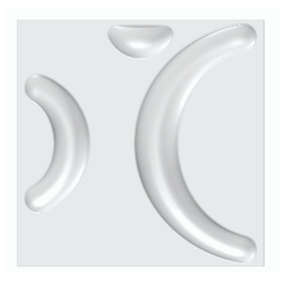 Forma De Gesso 3D em ABS - ABS0036-2MM 30x30cm
