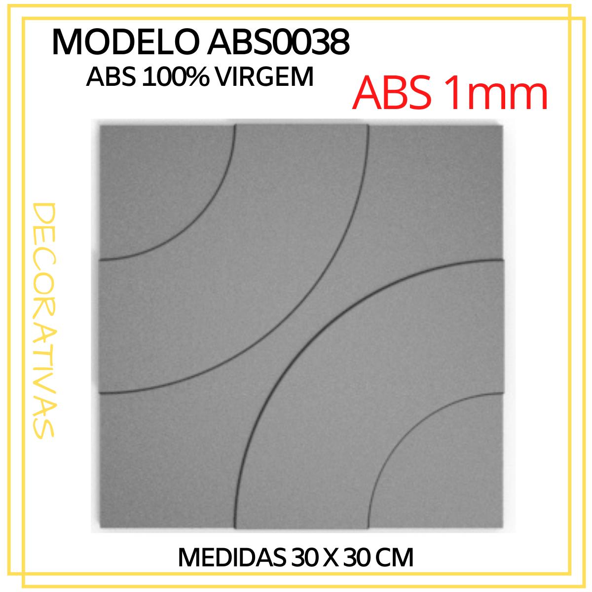 Forma De Gesso 3D em ABS - ABS0038-1MM 29x29cm