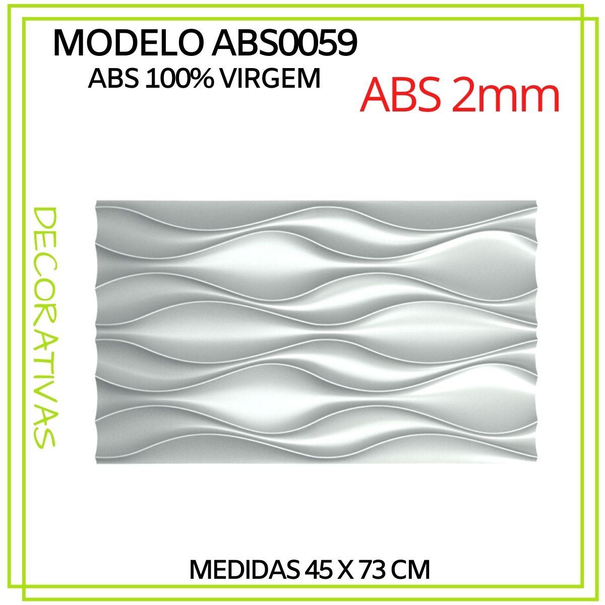 Forma De Gesso 3D em ABS - ABS0059-2MM 45x73cm