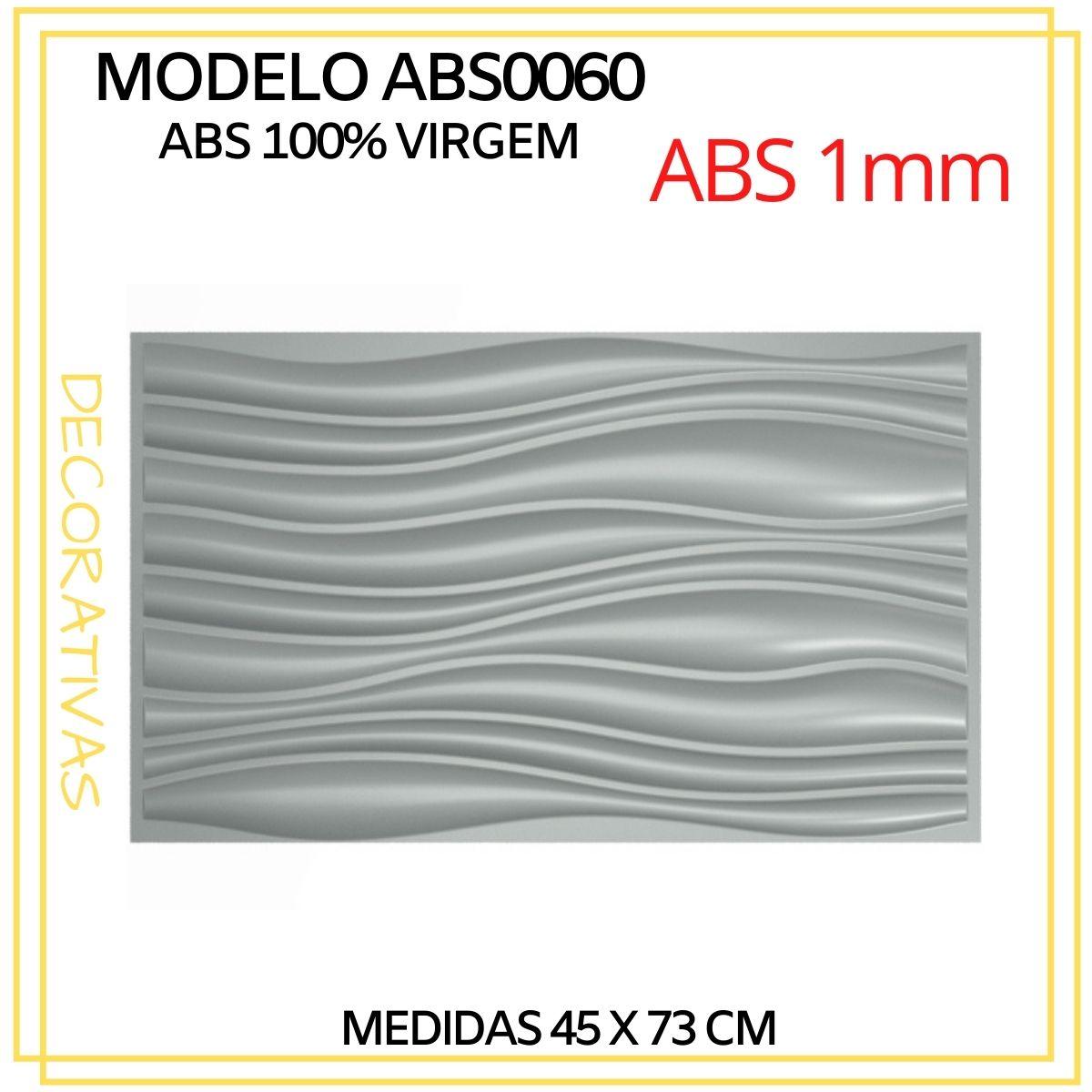 Forma De Gesso 3D em ABS - ABS0060-1MM 45x73cm