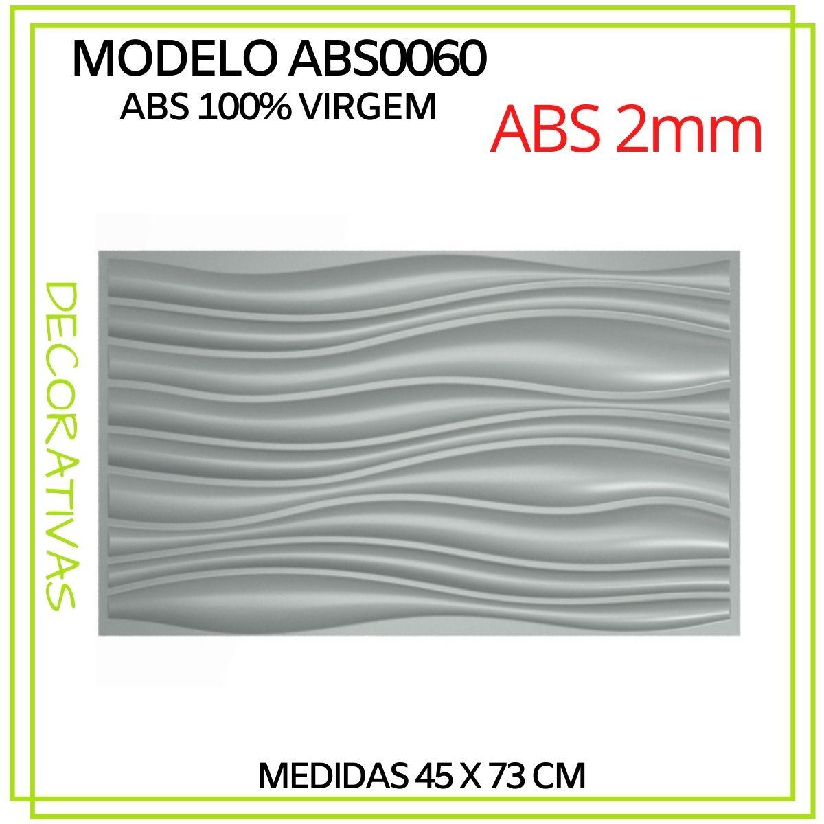 Forma De Gesso 3D em ABS - ABS0060-2MM 45x73cm