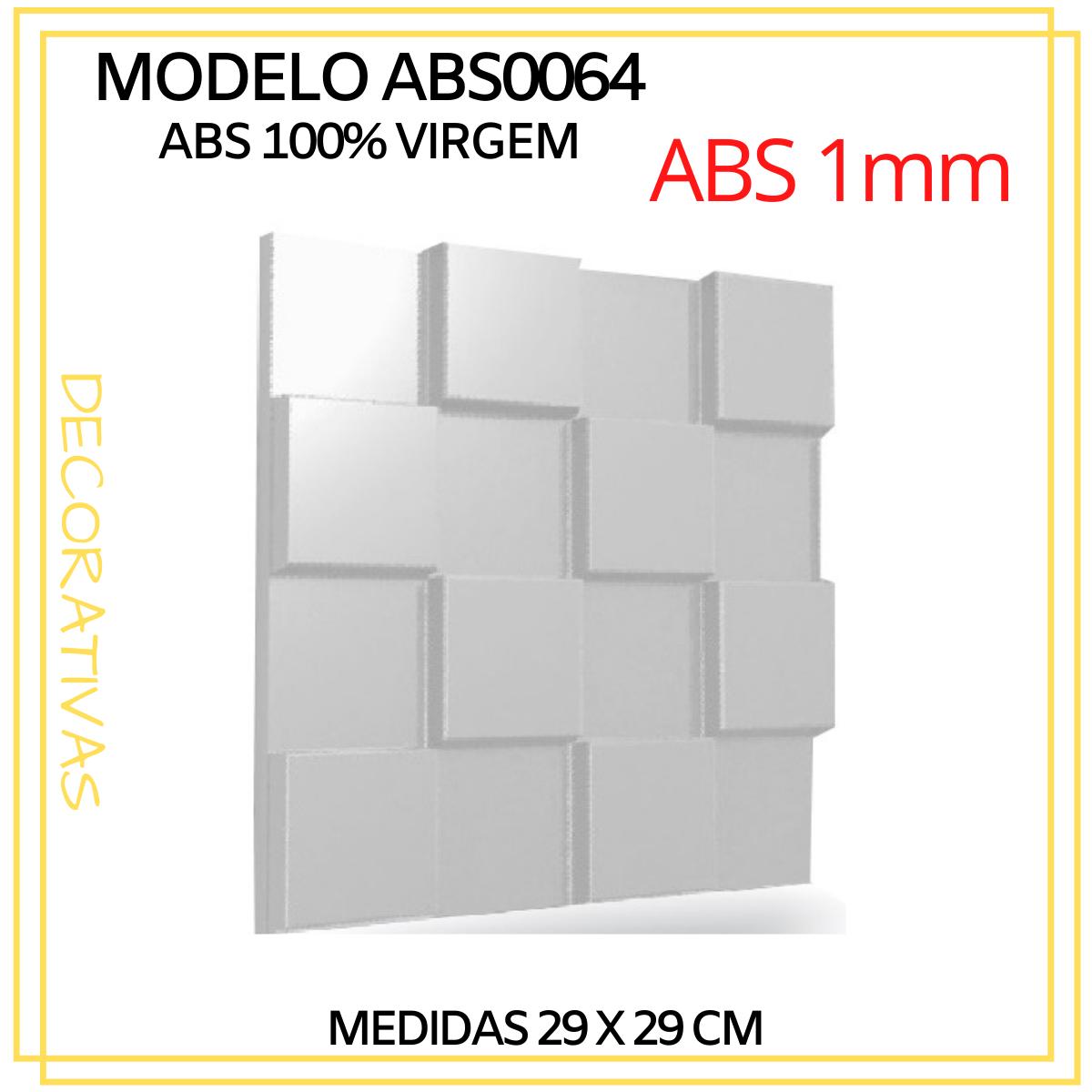 Forma De Gesso 3D em ABS - ABS0064-1MM  29x29cm
