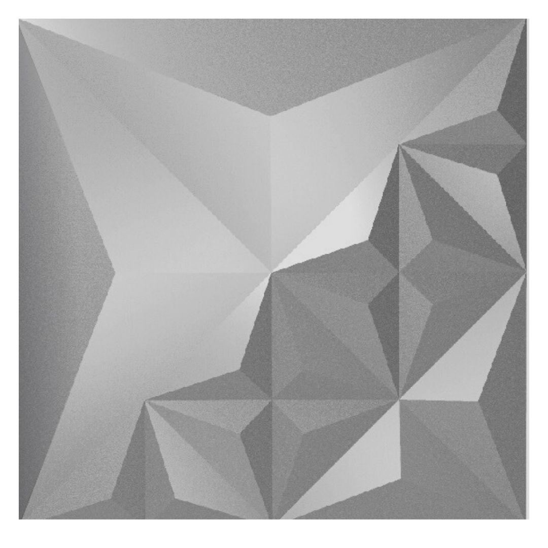 Forma De Gesso 3D em ABS - ABS0067- 2MM 39x39cm