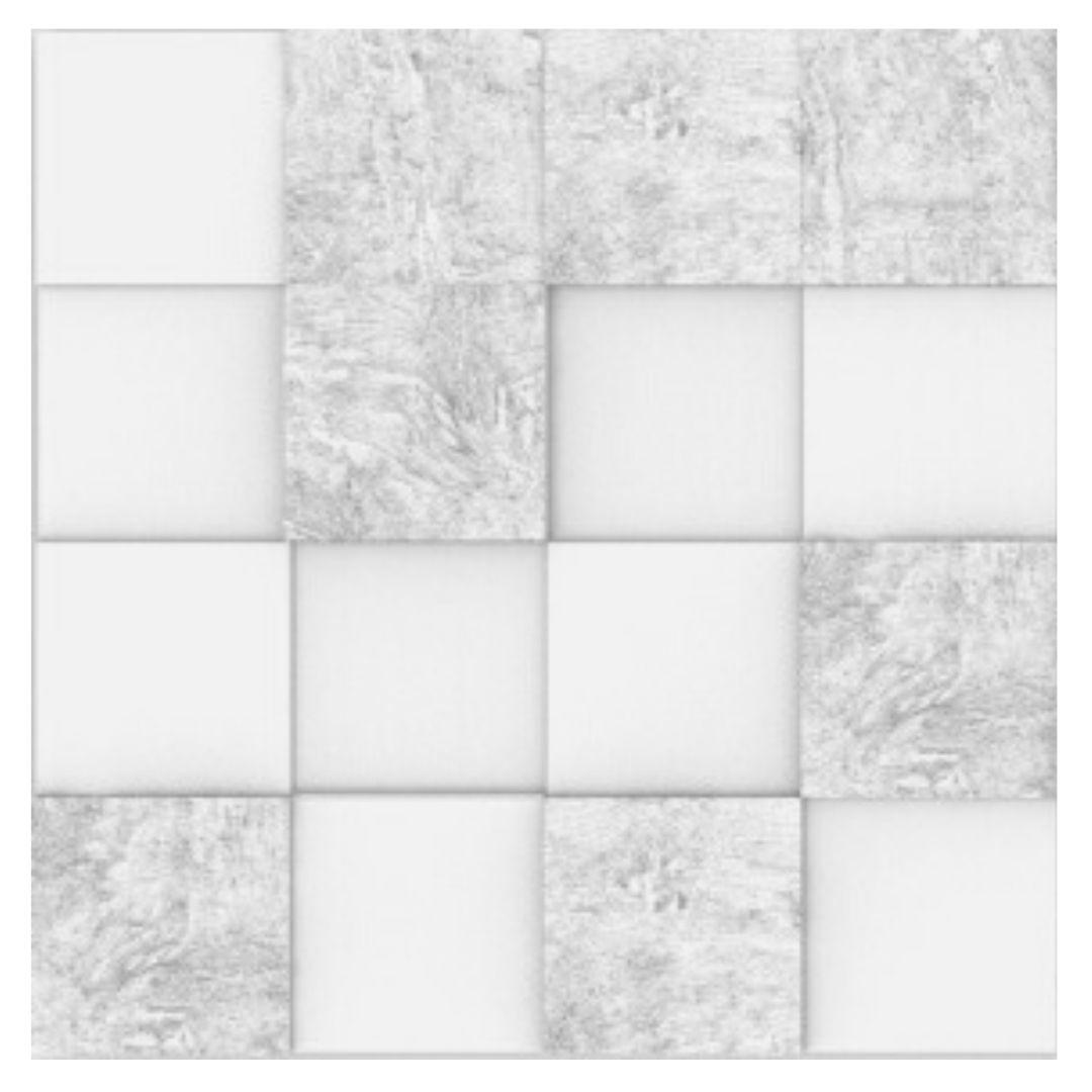 Forma De Gesso 3D em ABS - ABS0081-2MM 29x29cm