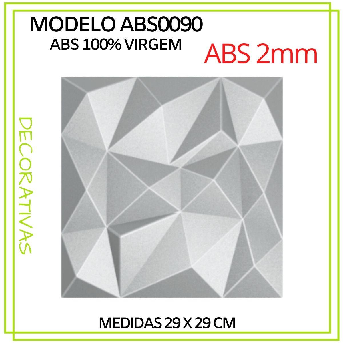 Forma De Gesso 3D em ABS - ABS0090-2MM 29x29cm