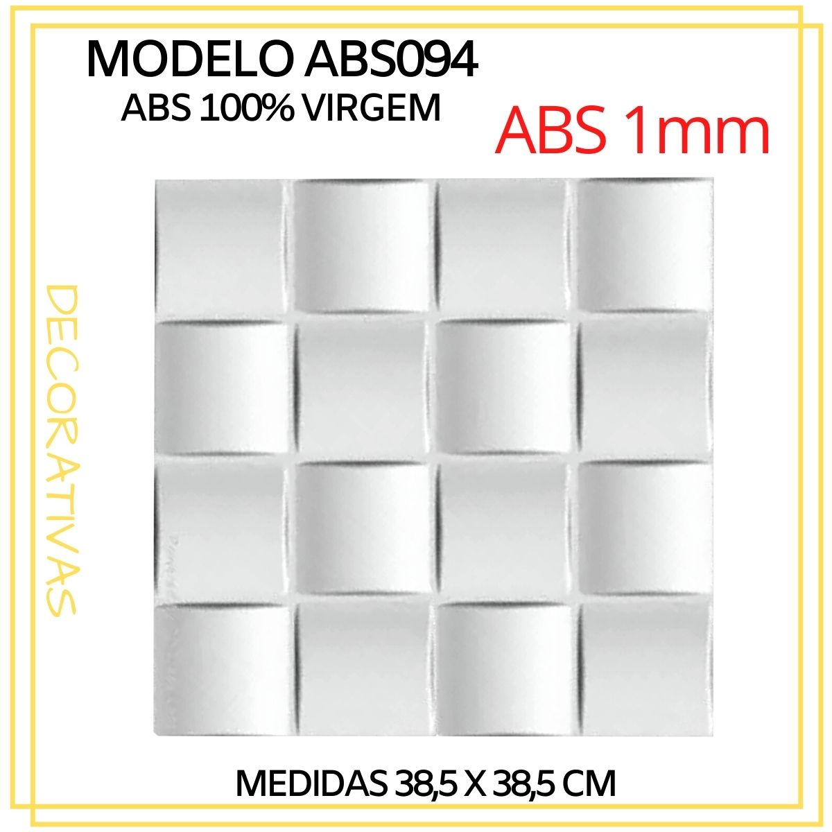 Forma De Gesso 3D em ABS - ABS0094-1MM 38,5x38,5cm