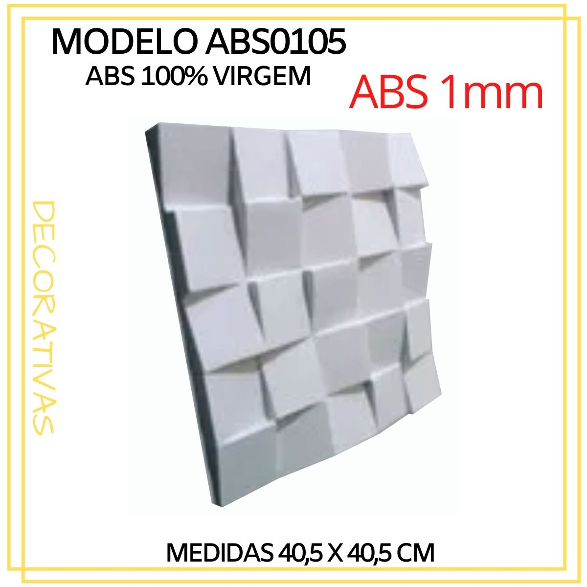 Forma De Gesso 3D em ABS - ABS0105-1MM 40,5x40,5cm