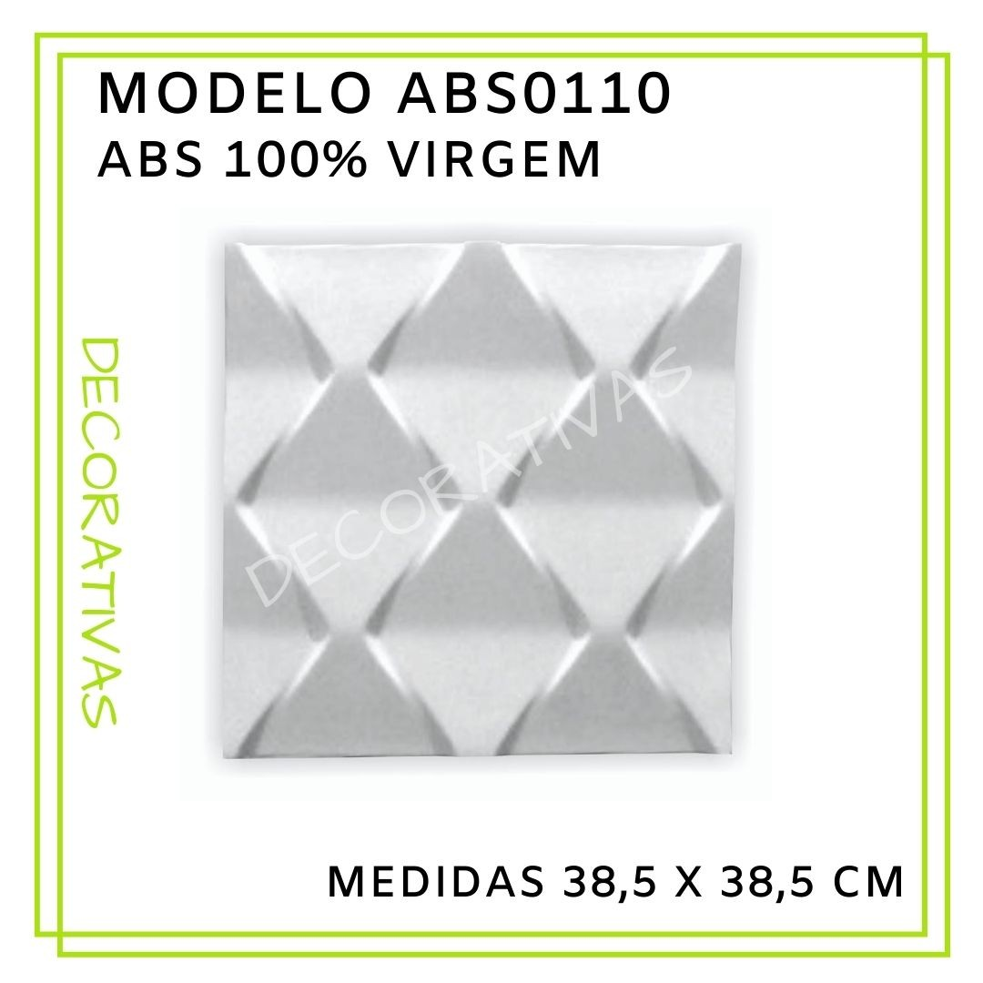 Forma De Gesso 3D em ABS - ABS0110-2MM 38,5x38,5cm