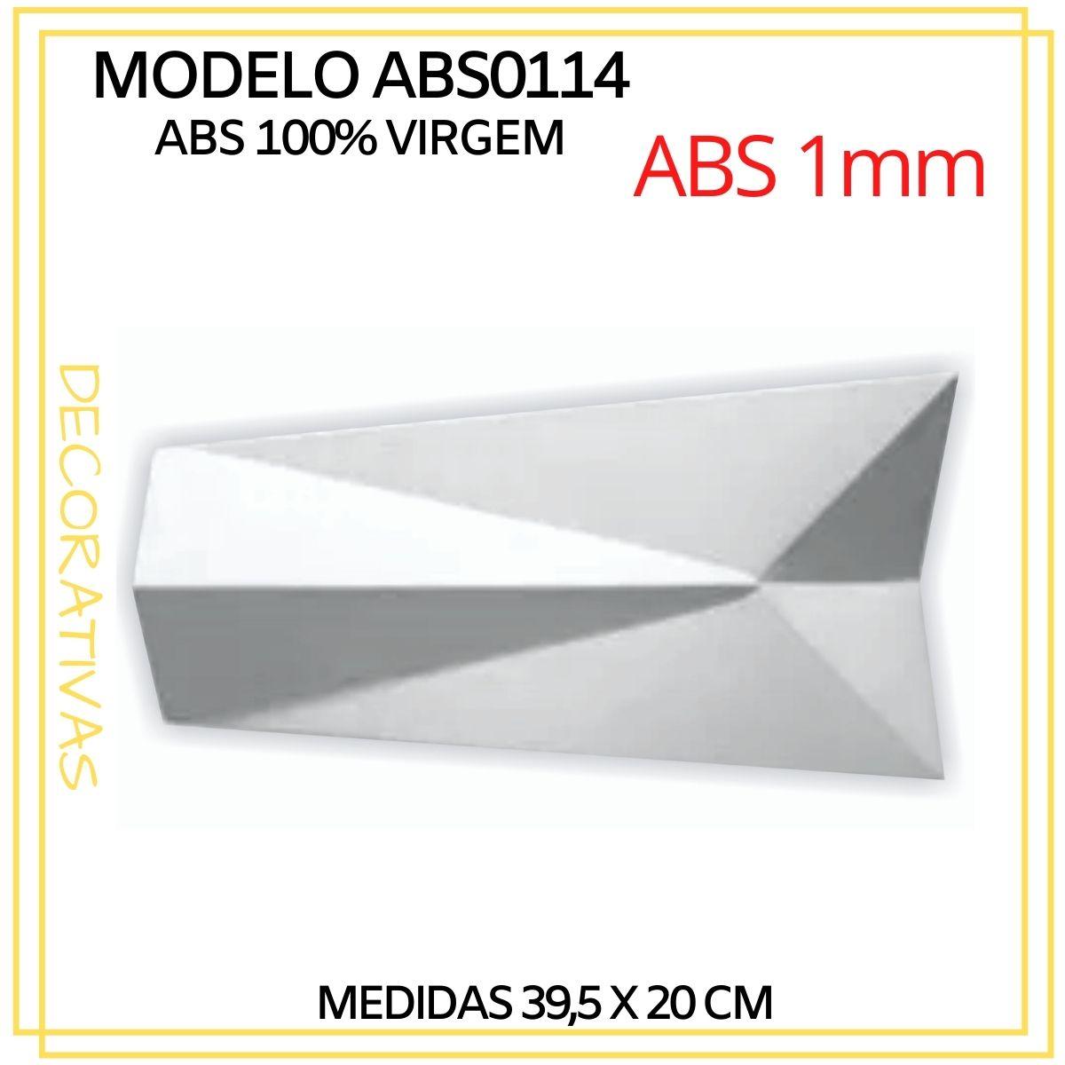 Forma De Gesso 3D em ABS - ABS0114-1MM 39,5x20cm