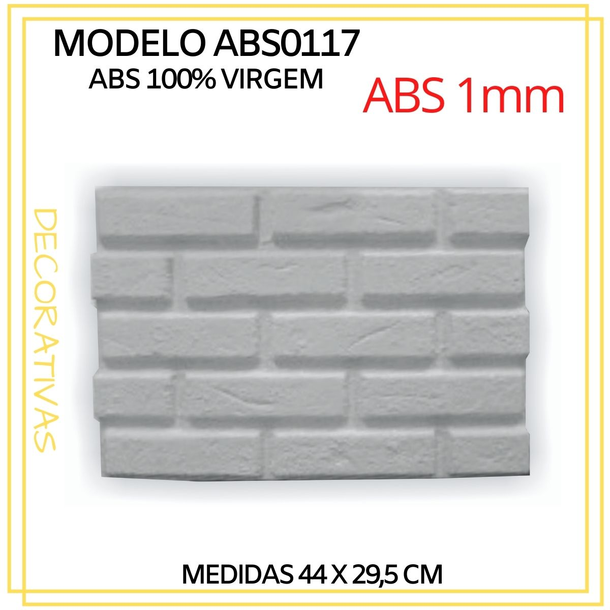 Forma De Gesso 3D em ABS - ABS0117-1MM  44x29,5cm