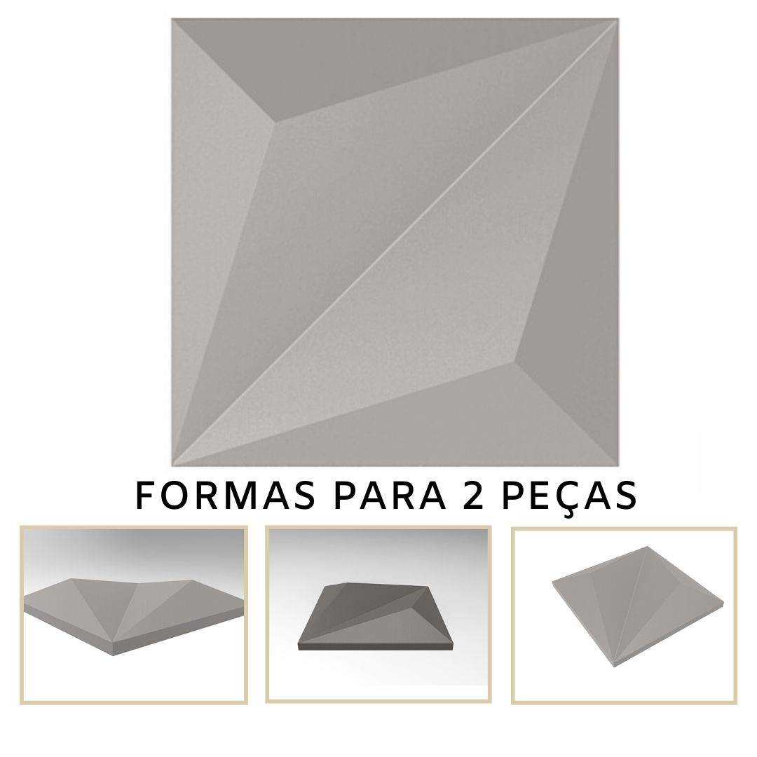 Forma De Gesso 3D em ABS - ABS0128-2MM 14,5x14,5cm