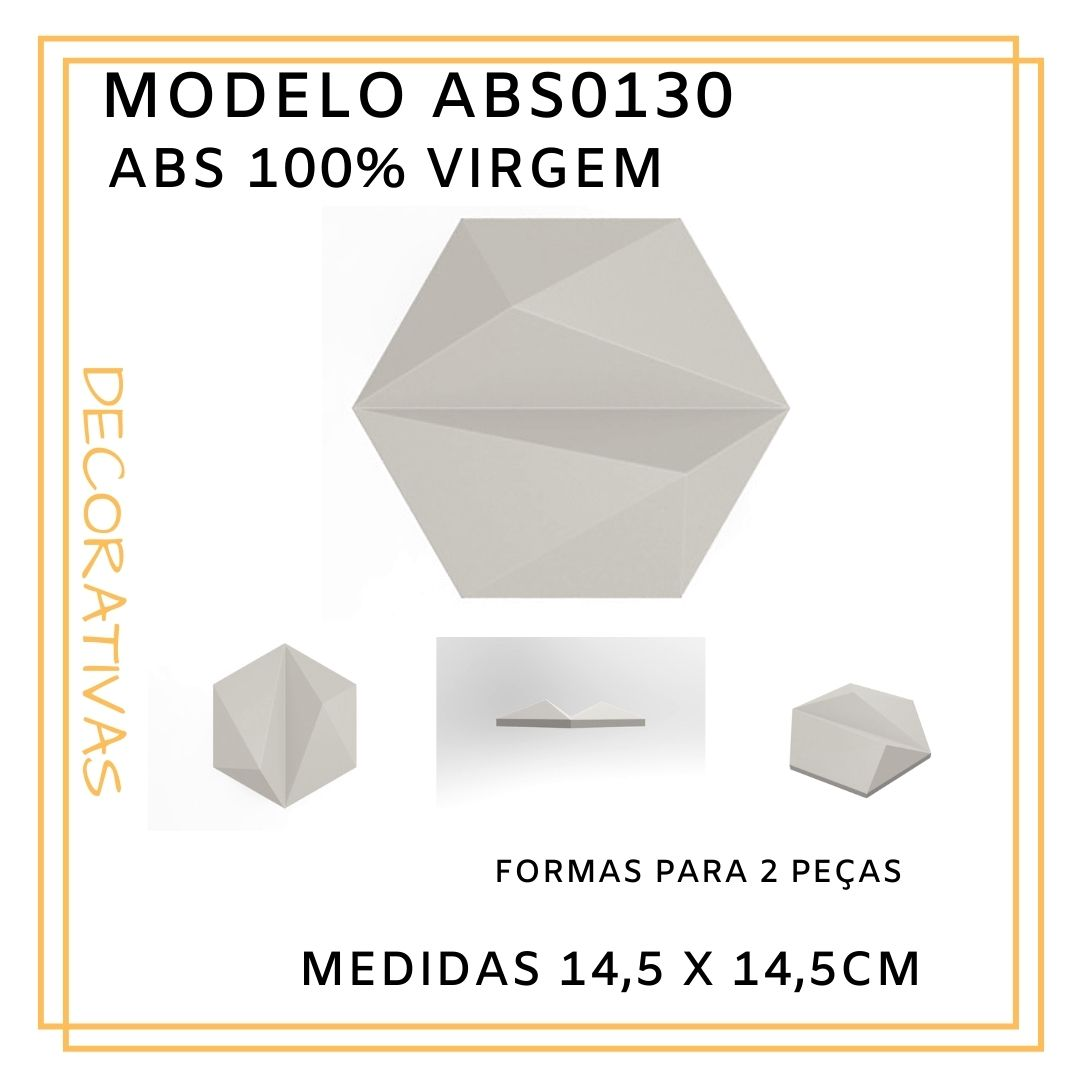 Forma De Gesso 3D em ABS - ABS0130-1MM 17,5x14,5cm