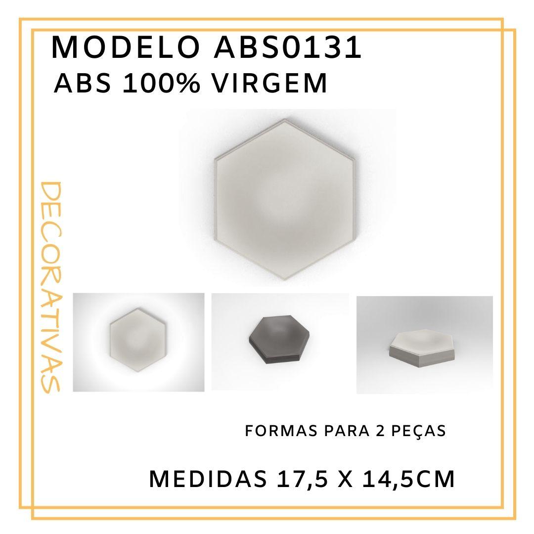 Forma De Gesso 3D em ABS - ABS0131-1MM 17,5x14,5