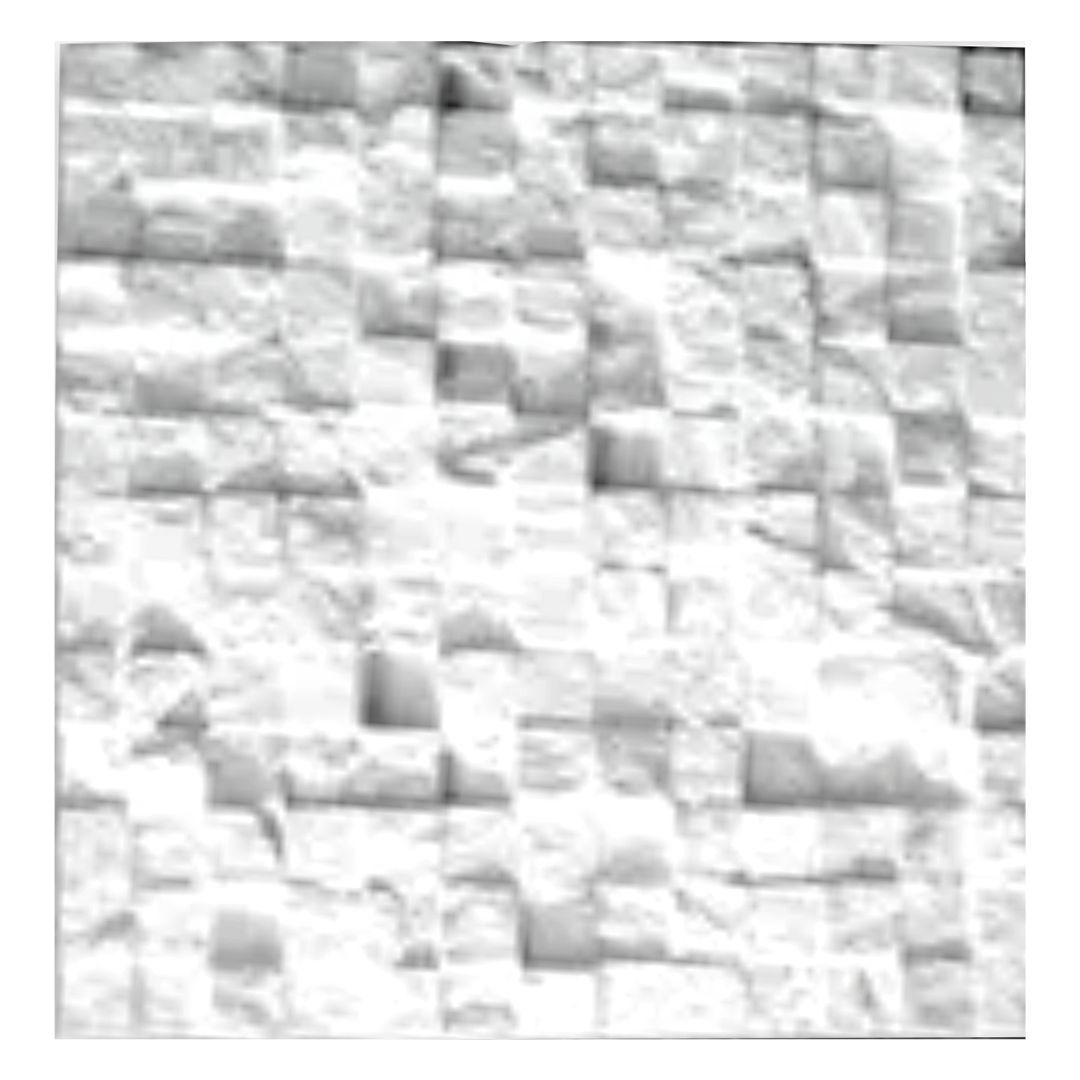 Forma De Gesso 3D em ABS - ABS0135-2MM 37x37cm