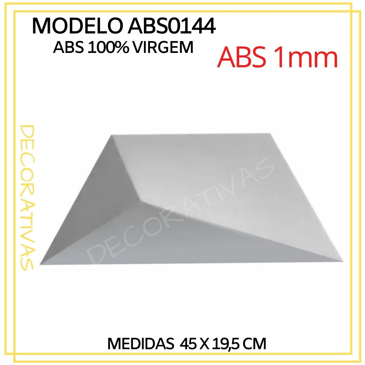 Forma De Gesso 3D em ABS - ABS0144-1MM 45x19,5cm