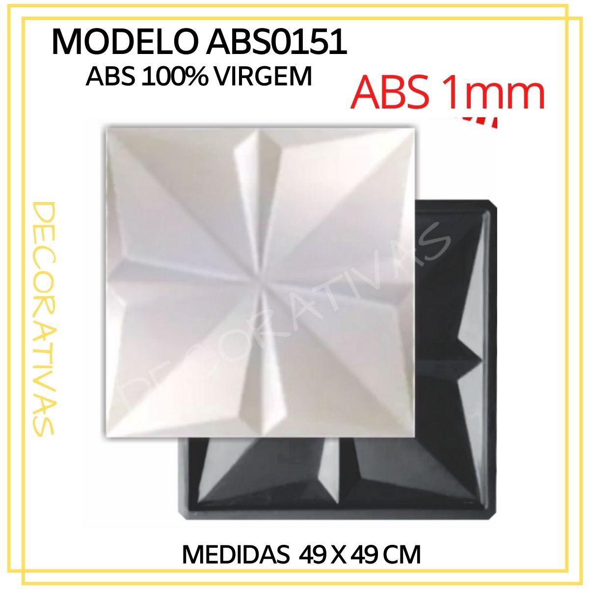 Forma De Gesso 3D em ABS - ABS0151-1MM 49x49cm