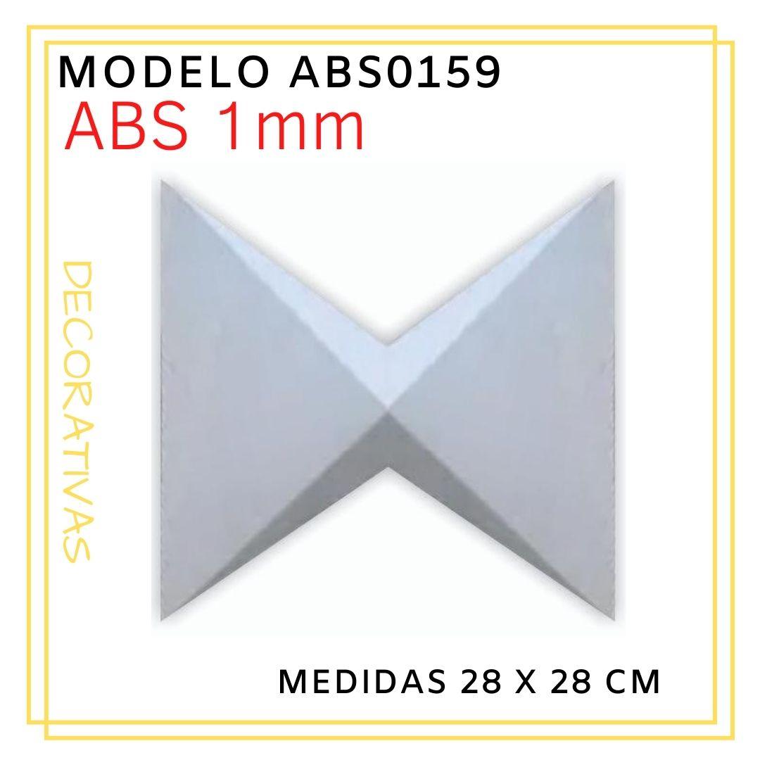 Forma De Gesso 3D em ABS - ABS0159-1MM 28x28cm