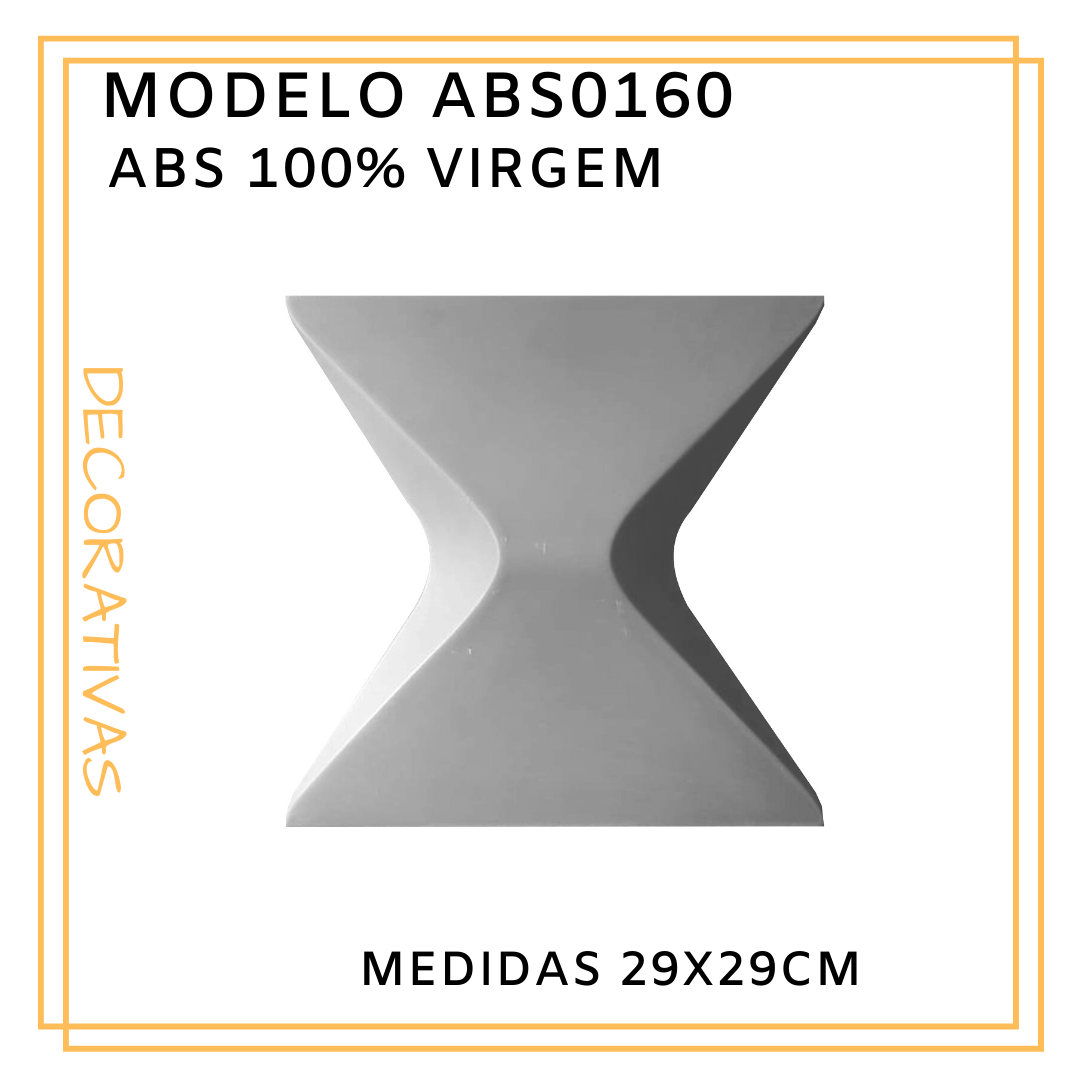 Forma De Gesso 3D em ABS - ABS0160-1MM 29x29cm