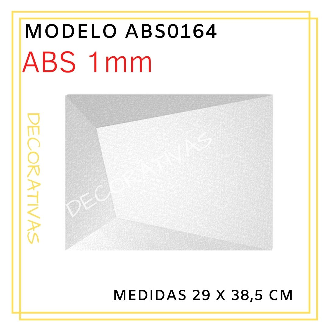 Forma De Gesso 3D em ABS - ABS0164-1MM 29x38,5cm