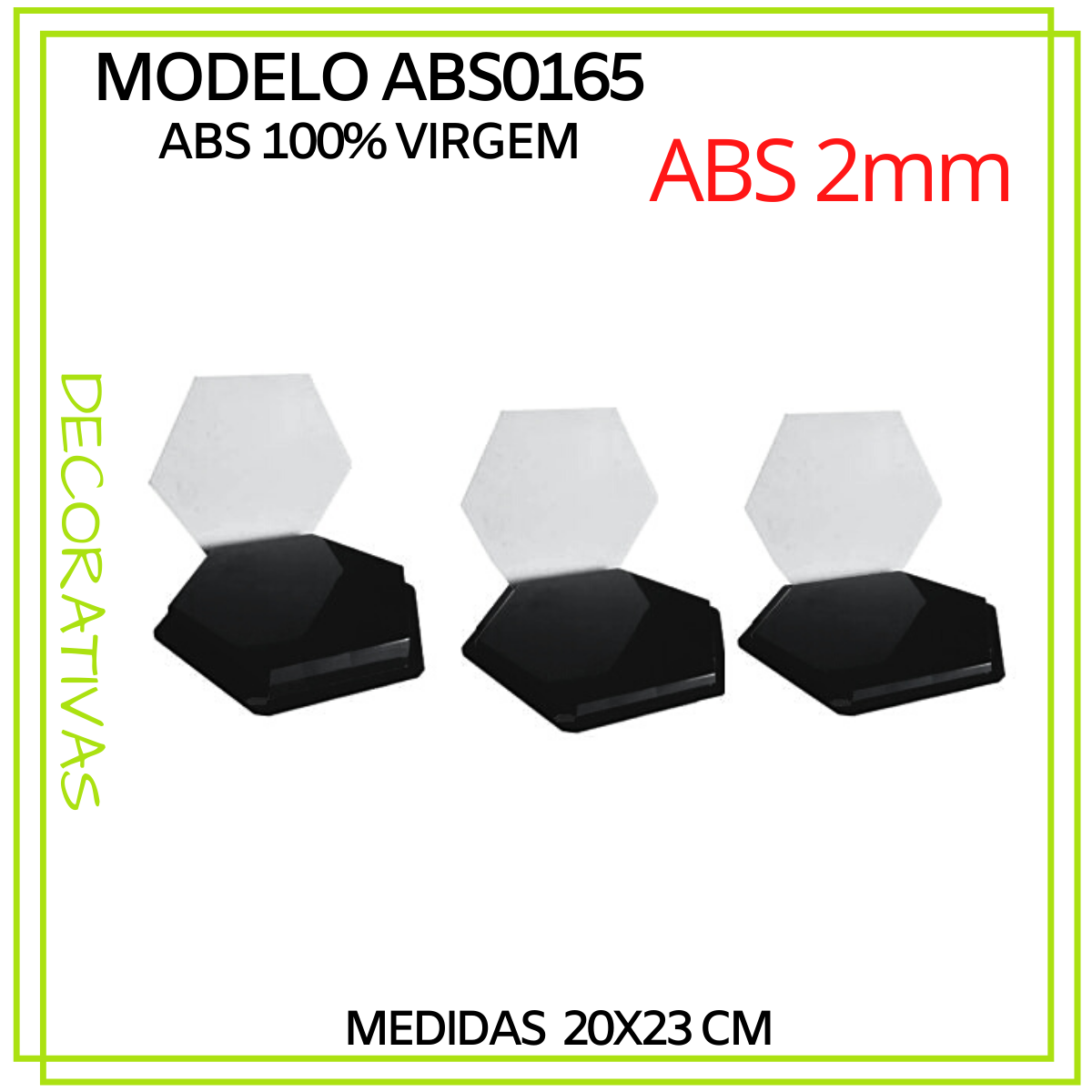 Forma De Gesso 3D em ABS - ABS0165-2MM 20x23cm