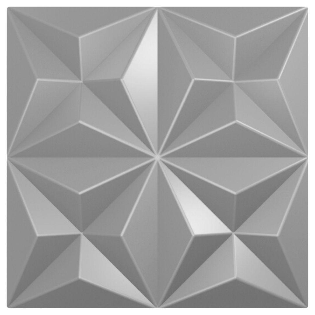 Forma De Gesso 3D em ABS - ABS0176-2MM  45x45cm