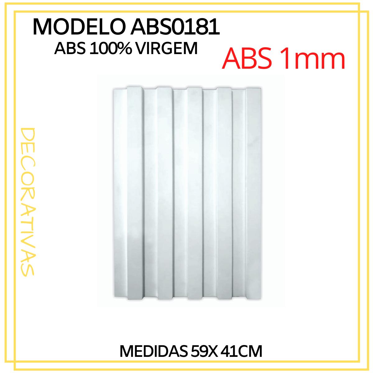 Forma De Gesso 3D em ABS - ABS0181-1MM 59x41cm