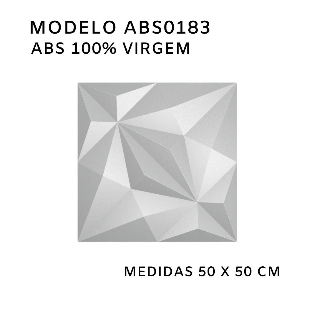 Forma De Gesso 3D em ABS - ABS0183-1MM 50x50cm